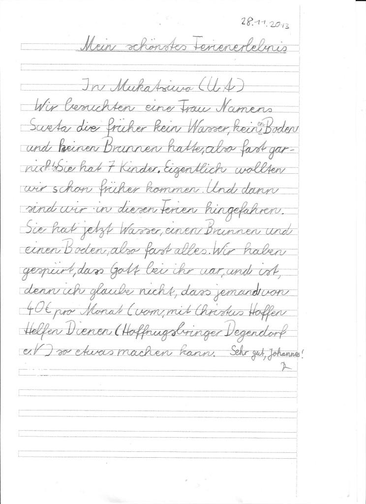 Reisebericht Johannes