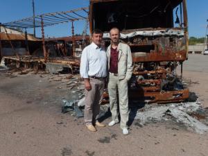 Separatisten legten diese Möbelfabrik eines Christen in Schutt und Asche. 250 Beschäftigte sind jetzt ohne Arbeit. Foto: K. Schock